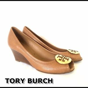 Tory Burch Sally 2 peek toe wedge shoe